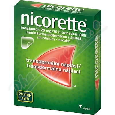 Nicorette Invisipatch 25mg/16h náplast 7x25mg
