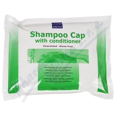 Koupací čepice s obsahem šamponu a kondicionéru