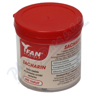 Fan sladidlo Sacharin 50g/800 tablet